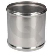 Acople aluminio,D19 L75