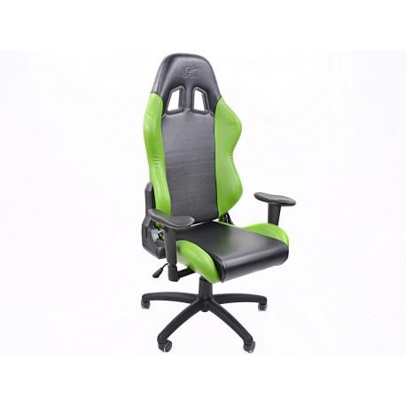 Silla oficina FK Liverpool negro/verde