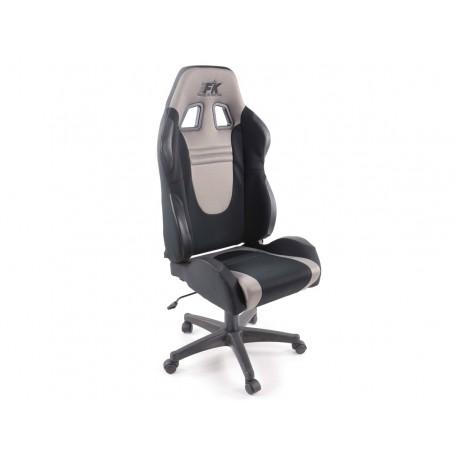 Silla oficina Racecar negro/gris
