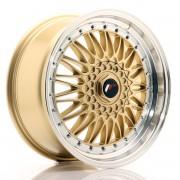 Japan Racing JR9 18x8 ET35-40 BLANK Gold w/Machined Lip