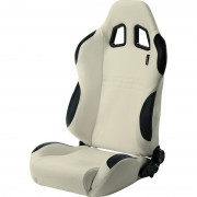 Asiento deportivo Type T - White/Black Piel sintetica - Dual-side reclinable back-rest - incl. correderas
