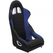 Asiento deportivo K5 - Black/Blue - No-reclinable back-rest - incl. correderas
