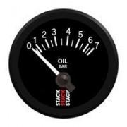 Manómetro Stack Presión de Aceite 0-7 Bares Eléctrico