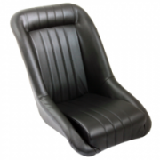 Vintage seat with sky leather - black
