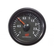 RELOJ PRESION TURBO BTR 52mm NEGRO