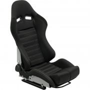 Asiento deportivo BS5 - Black/Grey - Dual-side reclinable fibreglass back-rest - incl. correderas