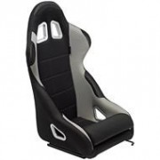 Asiento deportivo K5 - Black/Grey - No-reclinable back-rest - incl. correderas