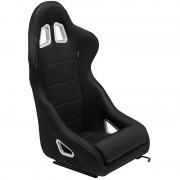 Asiento deportivo K5 - Black - No-reclinable back-rest - incl. correderas