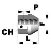 Tuerca conica abierta M12x1,25 L24 C19
