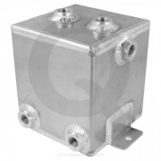 Deposito de gasolina 40L - 410x380x260mm - Plata